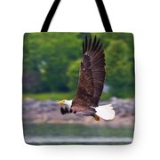 Fishing In The Rain Tote Bag