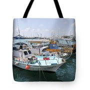 Fishing Industry In Limmasol Tote Bag