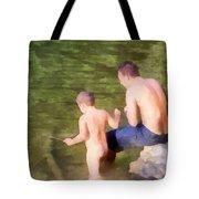 Fishing Lesson Tote Bag