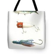 Fishing Lures Tote Bag by Juan Bosco