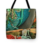 Fishing Net Portrait Tote Bag