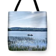 Fishing On Lake Carmi Tote Bag