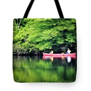 Fishing On Shady Tote Bag by Lana Trussell