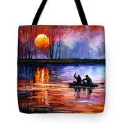 Fishing On The Lake  Tote Bag