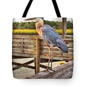 Fishing On The Pier  Tote Bag