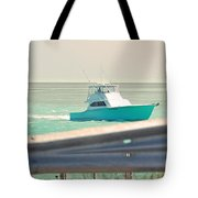 Fishing On The Sea  Tote Bag
