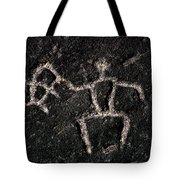 Fishing Petroglyph Tote Bag