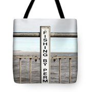 Fishing Sign Tote Bag
