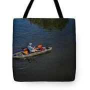 Fishing The Bypass Canal  Tote Bag