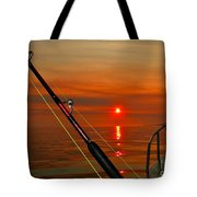 Fishing The Midnight Sun Tote Bag