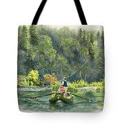 October Morning Fishing The Trinity River Tote Bag