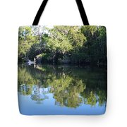 Fishing The Withlacoochee River. Tote Bag