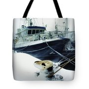 Fishing Trawler, Howth Harbour, Co Tote Bag