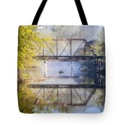 Fishing Under The Trestle Tote Bag