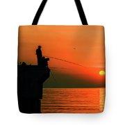 Morning Fishing 2 Tote Bag