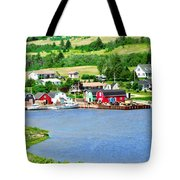 Fishing Village In Prince Edward Island Tote Bag