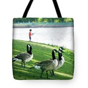 Fishing With The Geese Tote Bag