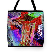 Fishnet Fantasy, A Collage Between Maine And Florida. Tote Bag