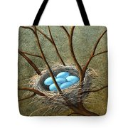 Five Blue Eggs Tote Bag