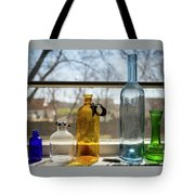 Five Colored Bottles Tote Bag