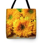 Five Exotic Sunflowers Tote Bag