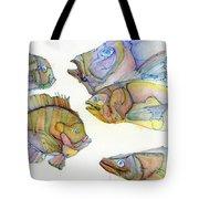 Five Fading Fish Tote Bag