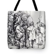 Five Lansquenets And An Oriental On Horseback 1495 Tote Bag
