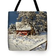 Five Mile Winter's Barn #9862 Tote Bag