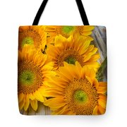Five Moody Sunflowers Tote Bag