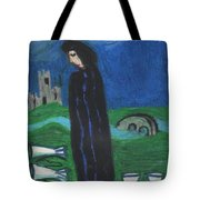 Five Of Cups Illustrated Tote Bag