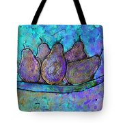 Five Pears On A Platter Tote Bag