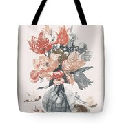 Five Prints With Flowers In Glass Vases, Anonymous, After Jean Baptiste Monnoyer, 1688 - 1698 Tote Bag