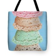 Five Scoop Ice Cream Cone Tote Bag