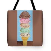 Five Scoop Ice Cream Cone Tote Bag