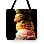 Five Scoops Of Ice Cream Tote Bag