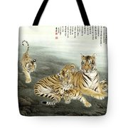 Five Tigers Tote Bag