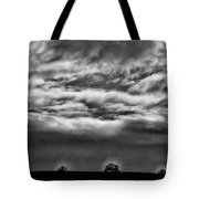 Five Trees In Clouds Tote Bag