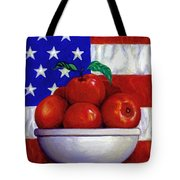 Flag And Apples Tote Bag