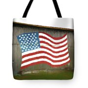 Flag And Barn - Painting Tote Bag