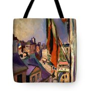 Flag Decorated Street 1906 Tote Bag
