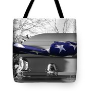 Flag For The Fallen - Selective Color Tote Bag