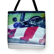 Flag In The  1955 Chevy Bel Air Tote Bag