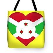 Flag Of Burundi Heart Tote Bag