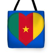 Flag Of Cameroon Heart Tote Bag