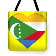 Flag Of  Comoros Heart Tote Bag