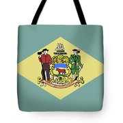Flag Of Delaware Tote Bag