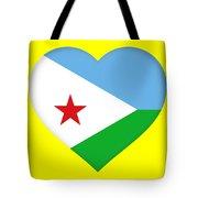 Flag Of Djibouti Heart Tote Bag