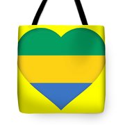 Flag Of Gabon Heart  Tote Bag