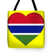 Flag Of Gambia Heart Tote Bag