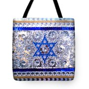 Flag Of Israel. Bead Embroidery With Crystals Tote Bag